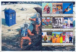 Ukraine 2017, Space, Tintin Adventures, Moto, Sheetlet Of 9v - Ucrania