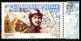 FRANCE PA N° 74a Henri PEQUET NEUF ** BDF DROIT - Poste Aérienne