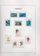 Australia   .    Page With Stamps      .        **    .      MNH   .   /   .    Postfris - 1980-89 Elizabeth II