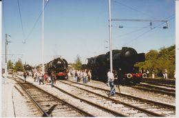 Photographie - Train - Locomotive - Luxembourg - Parrallèle Vennbahn 50 3666 - SNCF 141R568 Et CFL 5519 - N° 2S - Trains
