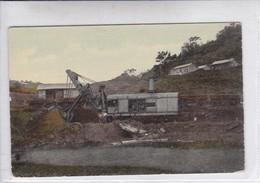 PANAMA. LOADING A DIRT TRAIN ON THE PANAMA CANAL. THE VICKERY & HILL PUB CO.-TBE-BLEUP - Panama