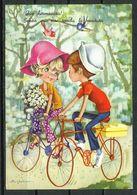 Humor / Fantasía. Ilustración: Paseo En Bicicleta. - Humor