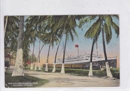PANAMA. NEW PANAMA RAILROAD DOCK, CRISTOBAL. PUB AT POST CARD HEADQUARTERS. CIRCULEE.-TBE-BLEUP - Panama