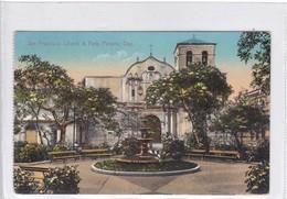 PANAMA. SAN FRANCISCO CHURCH & PARK. I L MADURO JR. CIRCULEE TO CHICAGO.-TBE-BLEUP - Panama
