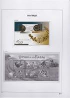 Australia   .     Page  With Stamps       .        **    .      MNH   .   /   .    Postfris - Blocks & Sheetlets