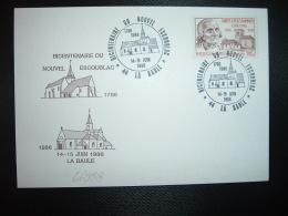 CP TP VIANNEY 1,80 OBL.14-15 JUIN 1986 44 LA BAULE BICENTENAIRE DU NOUVEL ESCOUBLAC - Storia Postale