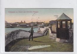 PANAMA. POLICEMAN ON GUARD LAS BOBEDAS. No 86A. I L MADURO JR. OBLITERE-TBE-BLEUP - Panama