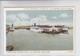 PANAMA. LA  PLAYA MOSTRANDO LOS MUELLES7 & 8, CRISSTOBAL ZONA DE CANAL No 702. I L MADURO JR.-TBE-BLEUP - Panama