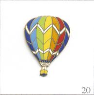 Pin's Montgolfière - Ballon Multicolore. Estampillé Tablo. EGF. T595-20 - Airships