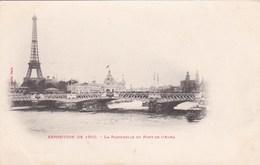 EXPOSITION 1900 - LA PASSERELLE DU PONT DEL'ALMA - Exhibitions