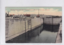 PANAMA. SHOWING GUARD GATE THAT IS KEEPING GATUN LAKE OUT OF THE LOKS. PUB BY TOLEDANO & DE LEMOS.-TBE-BLEUP - Panama