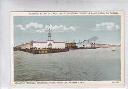 PANAMA. TERMINAL ATLANTICO, MUELLES DE CRISTOBAL DESDE LA BAHIA, CANAL DE PANAMA. No 582. I L MADURO.-TBE-BLEUP - Panama