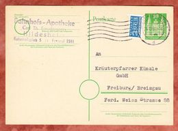 P 7 Holstentor Luebeck + Notopfer, Hildesheim Nach Freiburg 1951 (48781) - Bizone