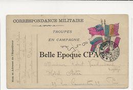 Militaria / Carte-Postale 1915 / Troupes En Campagne +++ Secteur 54 ---> Paris +++ FM / Trésor Et Postes / 13e RI - Marcophilie (Lettres)