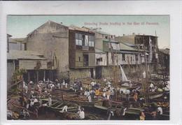 PANAMA. SHOWING BOATS TRADING INT THE BAY OF PANAMA. No 73A. I L MADURO JR.-TBE-BLEUP - Panama