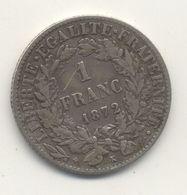 1 FRANC 1872 K CÉRÈS - H. 1 Franc