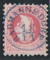 RADMANNSDORF - RADOVLJICA, 37 I, 5 Kr., Rough Impression, BLUE CANCELLATION ! - 1850-1918 Empire