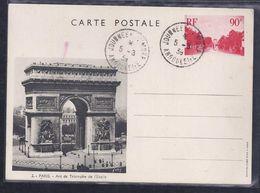 Entier Postal Journee Du Timbre 1939 Angouleme Arc De Triomphe - Entiers Postaux