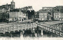 FRANCE - Le Pont En X - VG Bridge And Tram Etc By LL - Le Mans