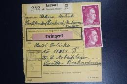 Deutschland Pakket Karte To Concentration And Work Camp  Drütte (Braunschweig) From Lonkorsch - Allemagne