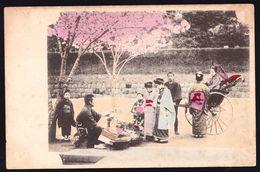 JAPAN - JAPON ---- FRUIT SELLER ? - RARE !! VERY OLD CARD - Japon