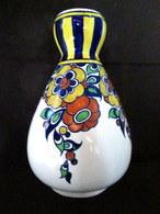 VASE POT FLEURS Faience Céramique Earthenware BOCH La Louvière Belgium Belgique Art Deco ! - Boch (BEL)