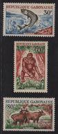 Gabon - N°171 à 173 - Tarpon Gorille Buffles - Cote 6.05€ - Gabon (1960-...)