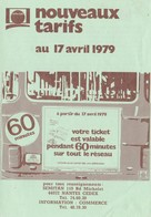 Ancien Dépliant Tarifs Autobus SEMITAN Boulevard Michelet 1979 Nantes - Transportation Tickets