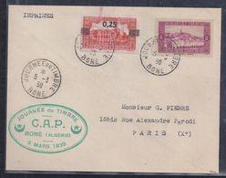 Enveloppe Locale  Journee Du Timbre 1939 Bone - Algérie (1924-1962)