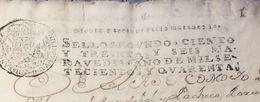 C) ECUADOR, LIBRO DE 88 PAGINAS CON SELLO DEL REINADO AÑO 1640 - Stamps