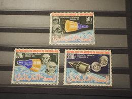 MAURITANIE - P.A. SPAZIO/GEMINI VII,  3 VALORI  - NUOVI(++) - Mauritania (1960-...)