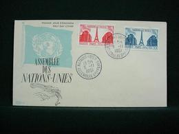 FRANCE 1951 - ONU & Tour Eiffel , Yvert#911/12 - 02 Cartes Maximum - Superbes ! - FDC