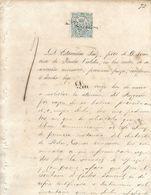 C) ECUADOR, LIBROS DE COMERCIO 1847 50c. DE PESETA Pg 72 - Stamps