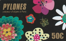 Carte  Cadeau ##   PYLONES   ##   (FRANCE) Gift Card, Giftcart, Carta Regalo, Cadeaukaart - Cartes Cadeaux