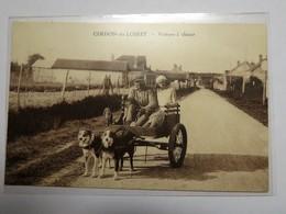 C.P.A. 45 CERDON DU LOIRET : Voiture à Chiens, Attelage Couple - France