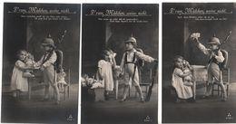 Nr.+  582, 3 X Drum Mädchen, Weine Nicht. - Weltkrieg 1914-18