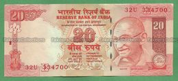 India Inde Indien - 20 Rupees / INR Banknote P-96h - 2010 UNC (letter E) D. Subbarao - As Scan - India