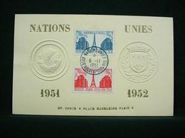 FRANCE 1951 - ONU & Tour Eiffel , Yvert#911/12 - Carte E. Berck ( Tirage Limté ) RARE ! - FDC
