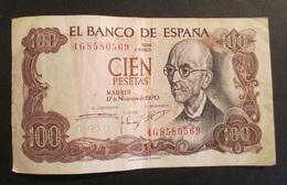 Spagna Cien  100 Pesetas 1970 - [ 3] 1936-1975 : Regime Di Franco