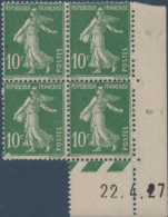 N°__159 COIN DATE SURCHARGE 10C. VERT TIMBRES NEUFS**, 1921-1922 - ....-1929