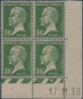 N°__174 COIN DATE 30C. VERT TYPE PASTEUR TIMBRES NEUFS**/*, 1921-1922 - Coins Datés