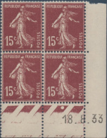 N°__189 COIN DATE 15C. BRUN-LILAS TIMBRES NEUFS**, 1924-1926 - ....-1929
