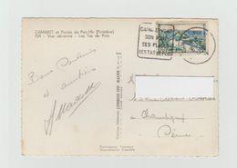 """Cachet DAGUIN - CAMARET Sur MER """"Camaret Sur Mer Son Port Ses Plages Ses Tas De Pois """" Sur CPSM - Postmark Collection (Covers)"""