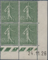 N°__234 COIN DATE 65C. OLIVE TIMBRES NEUFS**, 1926-1927 - ....-1929