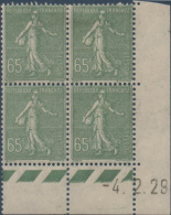 N°__234 COIN DATE 65C. OLIVE TIMBRES NEUFS**/*, 1926-1927 - ....-1929