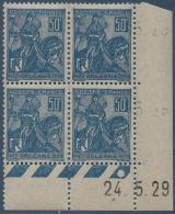 N°__257 COIN DATE 5EME CENTENAIRE DE LA DELIVRANCE D'ORLEANS, TIMBRE NEUF ** 1929 - Coins Datés