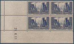 N°__261 COIN DATE PORT DE LA ROCHELLE TYPE III BLEU, NEUFS ** 1929 - ....-1929