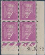 N°__292 CELEBRITES, TIMBRES NEUFS**, 1933 - Coins Datés