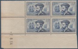 N°__297 JACQUES CARTIER 1934 NEUFS** COIN DATE - Coins Datés