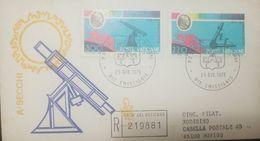L) 1979 VATICAN CITY, ASTRONOMER, CENTENNIAL OF THE DEATH OF ASTRONOMO ANGELO SECCHI, SUN, TELESCOPE, FDC - 6. 1946-.. Republic